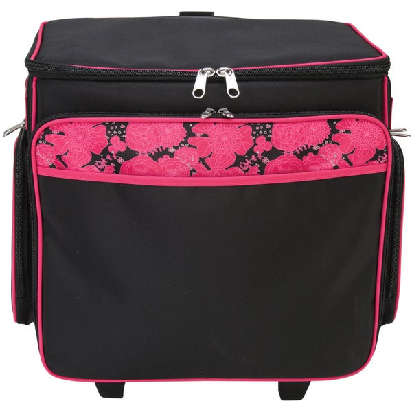 Pink Scrapbooking Tote Tote-black With Pink