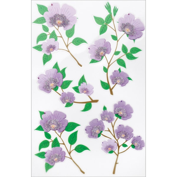 Martha Stewart Stickers-Purple Blossom
