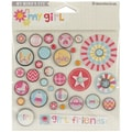 My Girl Decorative Brads 32/Pkg-