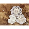 "Chantelle Fabric & Paper Flowers -Doily With Pearls 2.5"" 2/Pkg"