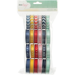 "Dear Lizzy Lucky Charm Value Pack Premium Ribbon 24/Spools-.375"" Wide X 4' Per Spool"