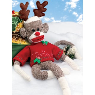 "Rudy Holiday Sock Monkey Kit-21"" Long"
