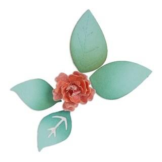 Sizzix Sizzlits Die Set-3-D Flower Bloom With Leaves