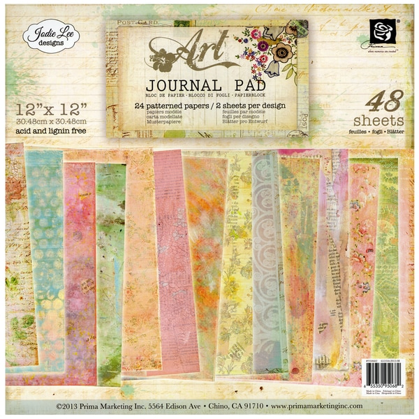 """Art Journal Paper Pad 12""""X12in 48/Sheets"""