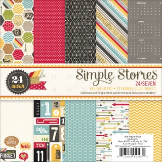 """24/7 Paper Pad 6""""X6"""" 24/Sheets-Double-Sided"""