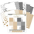 "Luxe Paper Pack 12""X12"" 12/Pkg-Copper & Black"