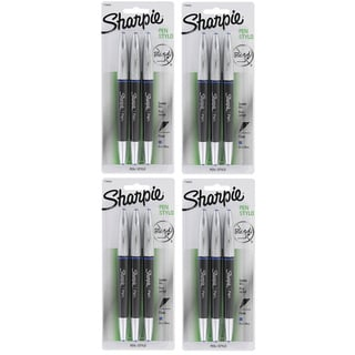 Sharpie 12 Pack Pen Grip Fine Point Blue Ink Pens