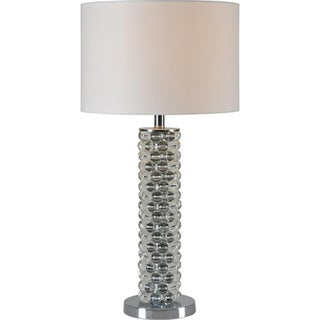 Ren-Wil 'Clairvoyant' Crystal and Chrome Table Lamp