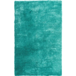 Hand-tufted Posh Teal Shag Rug (5' x 7')