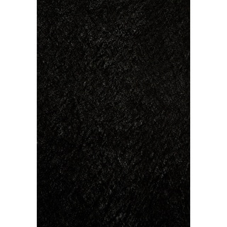 Hand-tufted Posh Black Shag Rug (8' x 10')