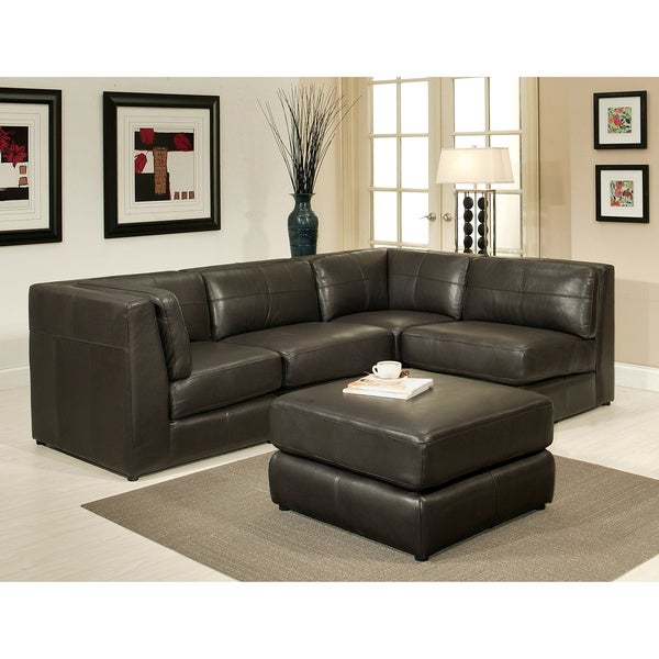 Abbyson Living Spectrum Top Grain Leather 5-piece Modular Sectional
