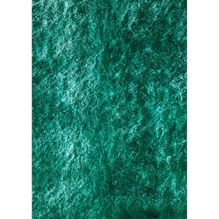Hand-tufted Posh Teal Shag Rug (2' x 3')