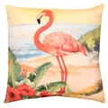Flamingo Print Indoor/ Outdoor 20-inch Throw Pillow