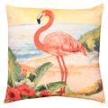 Flamingo Print Indoor/ Outdoor 20-inch Throw Pillow