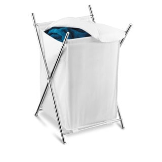 Chrome Folding Hamper with Cover