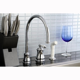 High Spout Chrome Kitchen Faucet with Side Sprayer