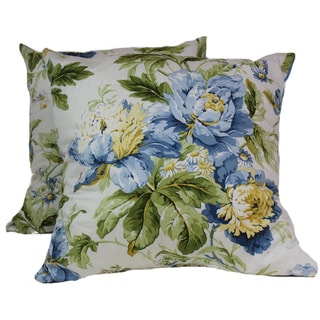 Forever Yours 16-Inch Square Blue Pillow (Set of 2)
