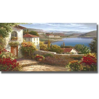 Stephen Livretta 'Sunday Afternoon on Lake Maggiore' Canvas Art