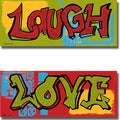 Alexandria Tava 'Laugh and Love' 2-piece Canvas Art Set