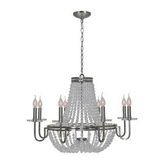 Cesano 8-light Nickel Chandelier