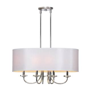 Lux 6-light Chrome Chandelier