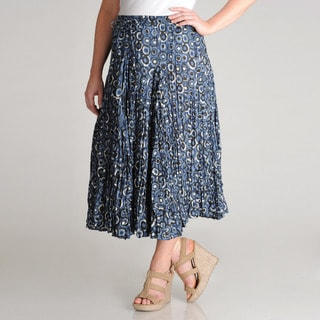 Grace Elements Women's Plus Pebble Printed Cotton Skirt