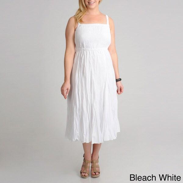 Grace Elements Women's Plus Smock Cotton Dress