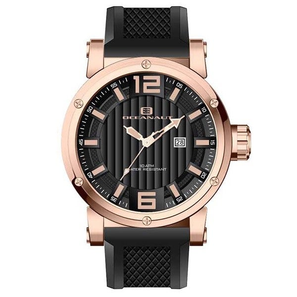 Oceanaut Men's Loyal Silicone Strap Stainless Steel Watch 11183742