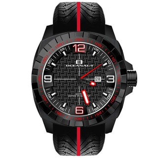 Oceanaut Men's Fair-Play Black/Red Stainless Steel Watch