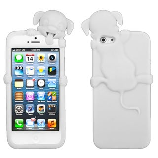 MYBAT Peeking White Dog Case for Apple iPhone 5