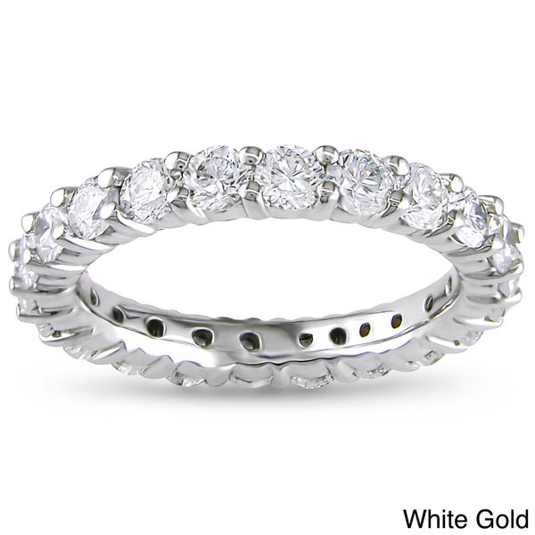 Miadora 14k Gold 2ct TDW Certified Diamond Eternity Band (G-H, I1-I2)