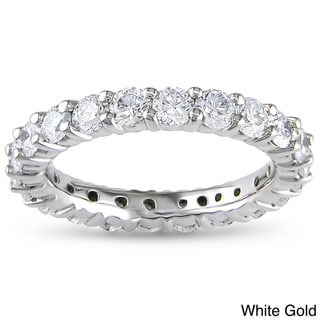 Miadora 14k Gold 2ct TDW Certified Diamond Eternity Band (G-H, I1-I2)