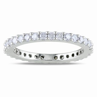 Miadora 14k Gold 3/4ct TDW Certified Diamond Eternity Band (G-H, I1-I2)