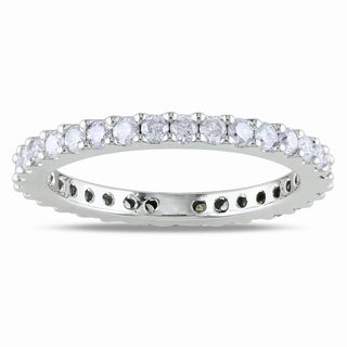 Miadora 14k Gold 3/4ct TDW Diamond Eternity Band (G-H, I1-I2)