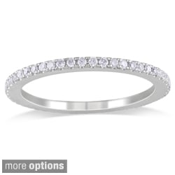Miadora 14k Gold 1/2ct TDW Diamond Certified Eternity Band (G-H, I1-I2) (IGL)