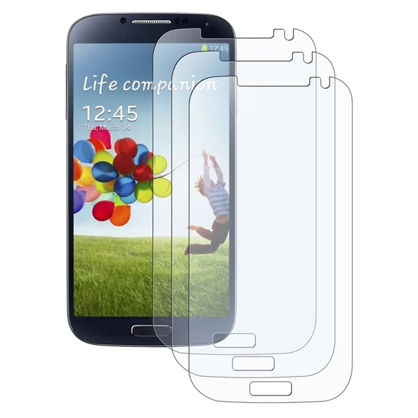 INSTEN Anti-glare Screen Protector for Samsung Galaxy S IV/ S4 i9500 (Pack of 3)