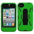 BasAcc Black/ Green Symbiosis Stand Case for Apple iPhone 4/ 4S