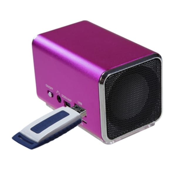 INSTEN Hot Pink Speakers for PC/ MP3 Player/ Cell Phone