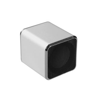 BasAcc Mini Silver Speakers for PC/ MP3 Player/ Cell Phone