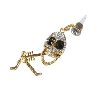 BasAcc Gold Skull Dust Cap Pendant for Cell Phone