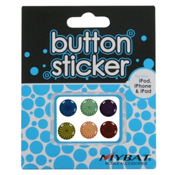 INSTEN Button Stickers for Apple iPhone 4/ 4S/ 5/ iPod Touch