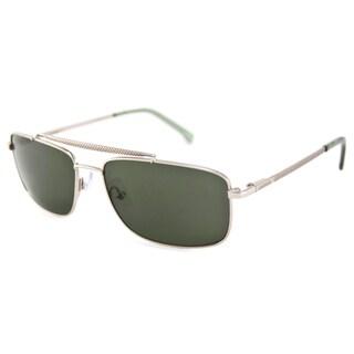 Lacoste Men's/Unisex L133S Gold/Green Aviator Sunglasses