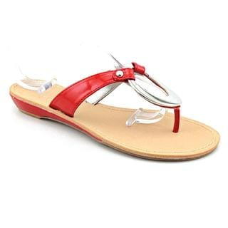 Marc Fisher Women's 'Licks' Red Man-Made Sandals