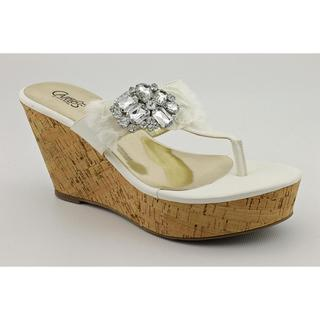 Carlos Santana Women's 'Sparkly' Faux Leather Sandals (Size  9.5 )