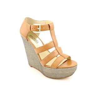 Michael Kors Women's 'Faye Wedge' Leather Sandals