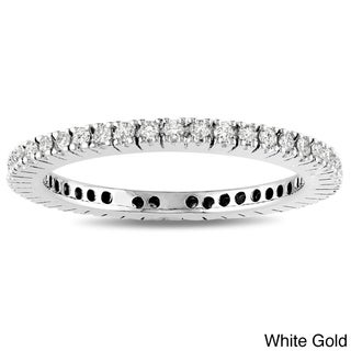 Miadora 14k Gold 1/3ct TDW Diamond Wedding Band (G-H, I1-I2)