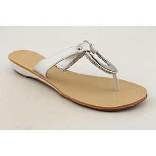 Marc Fisher Women's 'Licks' Man-Made White Sandals