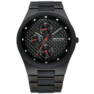 Bering Men's Ceramic Bezel Carbon Fiber Dial Watch