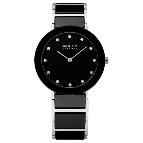 Bering Time Women's Black Ceramic/ Crystal-accented Watch