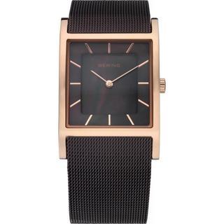 Bering Time Women's Slim Watch Brown/ Goldtone Watch